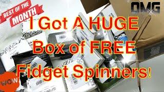Video Big Box of FREE Fidget Spinner Unboxing! + 5 Giveaways Announced! MP3, 3GP, MP4, WEBM, AVI, FLV Februari 2019