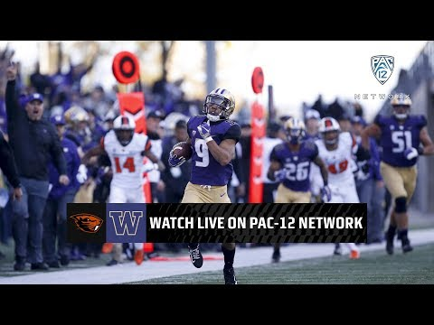 First half highlights: No. 18 Washington pouring it on Oregon State on Senior Day