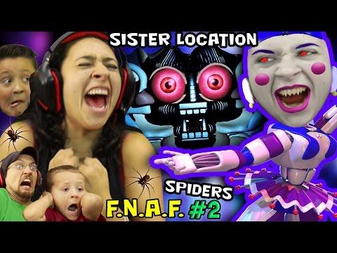 KILLER BALLERINA Scares MOM! FNAF SISTER LOCATION #2 w/ REAL SPIDERS (FGTEEV SCARY Ballora Gameplay) (видео)