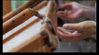 Making of Japanese handmade paper of Kyoto Kurotani