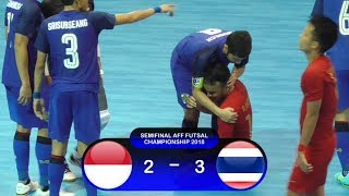 Video Highlights Indonesia Vs Thailand (2-3) Semifinal AFF Futsal Championship 2018 MP3, 3GP, MP4, WEBM, AVI, FLV April 2019