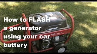 7. Energizing (flashing) your generator with a car battery