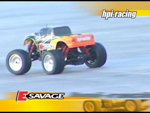 Смотреть видео HPI E Savage RTR 1/10 4WD
