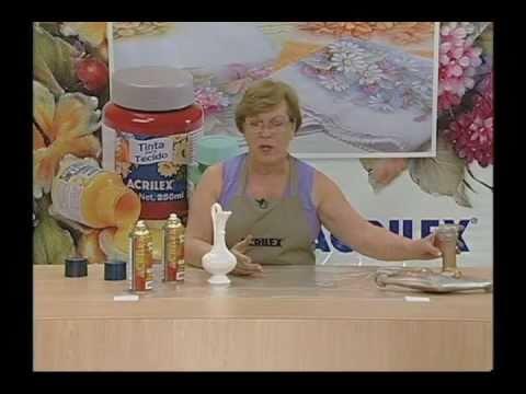 Pintura em isopor, gesso e madeira - Artesanato - Acrilex
