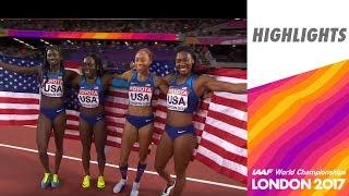 WCH 2017 London - 4X100m Women Final