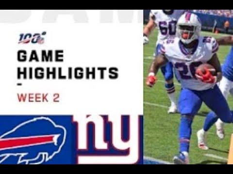Giants vs. Bills Week 2 Highlights | NFL 2019