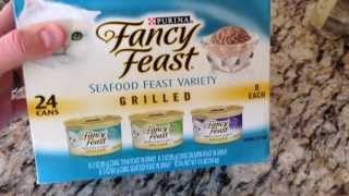 Fancy Feast Grilled Seafood Variety Pack Unboxing