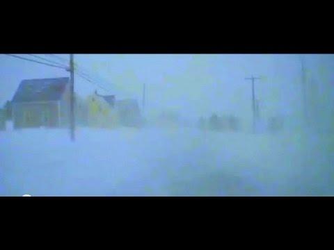 Winter Storms Continue to make driving dangerous in Meteghan, Nova Scotia Jan 31 2015