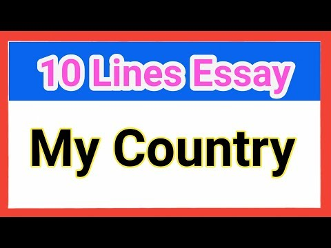 10 lines about My Country in English