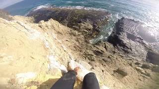 Video 🌈 INSANE Man Jumps into SEA CRACK!! MP3, 3GP, MP4, WEBM, AVI, FLV Agustus 2017