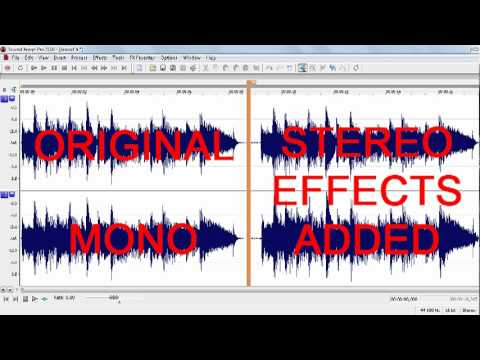 Stereo effects on mono recording