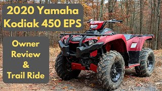 2. 2020 Yamaha Kodiak 450 EPS | Owner Review & Trail Ride | Worth Saving $$ over the 700?
