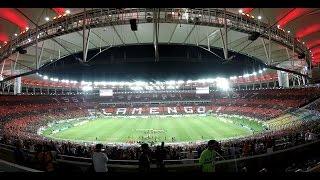 60 mil pessoas no Maracanã para Flamengo x San Lorenzo, pela Libertadores da América. Show da Torcida Rubro-Negra, com mosaico e muita ...