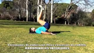 Inferiores con elevación de cadera y flexo-extensión de piernas