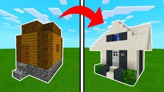 Minecraft Tutorial: How To Transform a Village Hut Into A Modern Hut