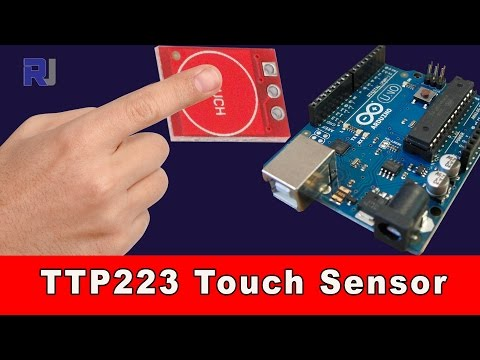 How to use TTP223 Capacitive touch  Arduino module
