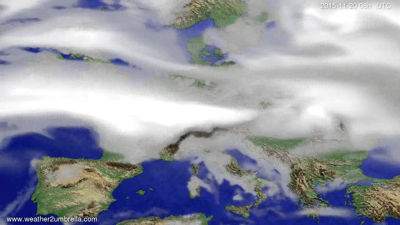 Cloud forecast Europe 2015-11-17
