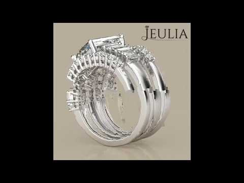 Jeulia 3PC 3.0 CT Radiant Cut Created White Sapphire Wedding Set - jeulia.com
