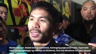 Pacquiao discusses role as senate chair on public works