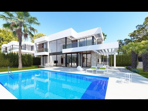 355000-745000 € Luxury villas in high-tech style in the club village of Benidorm. Dream house by the sea in Spain!