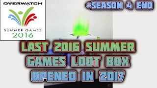 The last summer games 2016 loot box opened in 2017!! _________________________________________________________________ overwatch, overwatch #6 immortal, over...