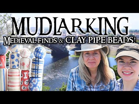 Mudlarking Medieval Finds! Making Clay Pipe Beads with Our Found Pipe Stems!