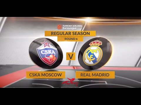 EuroLeague Highlights RS Round 6: CSKA Moscow 91-90 Real Madrid