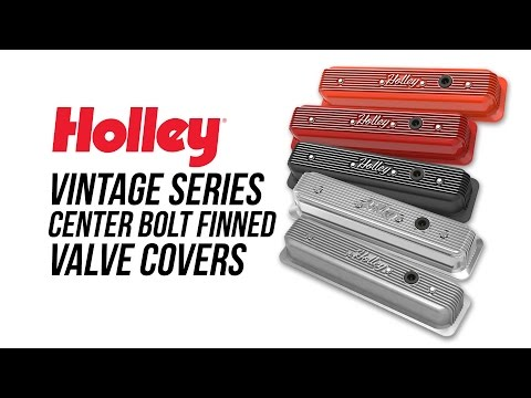 Holley Vintage Series Center Bolt Finned Valve Covers