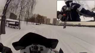 9. Polaris 600 RUSH PRO-R by GoPro HD HERO2 with Chest Mount Harness