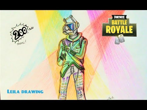 dessin dj lama fortnite 3 speed drawing smotret onlajn na hah life - lama de fortnite dibujo