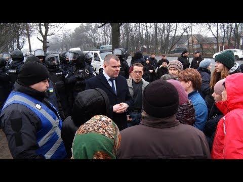 У Житомирі на проспекті Незалежності знову протистояння з приводу будівництва АЗС