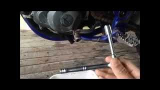 8. 2005 YZ250F oil and oil filter change ( 05 yz250f )
