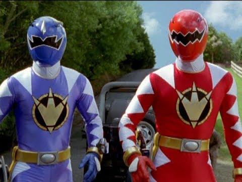 """Power Rangers Dino Thunder - Power Rangers rescue Trent   Episode 8 """"Golden Boy"""""""