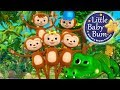 Five Little Monkeys Swinging In The Tree | Nursery Rhymes | Original Version By LittleBabyBum