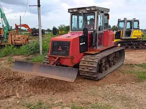 tractor-backhoe จัดให้ครับ รถไถนา แทร็กเตอร์ MITSUBISHI MKM-100 ตีนตะขาบ