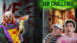 REAL KILLER CLOWN SIGHTING AT ABANDONED SLAUGHTER HOUSE IN THE WOODS (3 AM CHALLENGE)