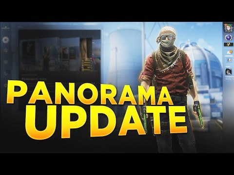 Panorama Update! (NEW LOOK CS:GO) (видео)