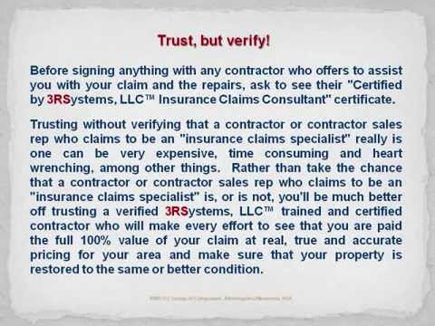 HOMEOWNERS INSURANCE RESTORATION CLAIMS GUIDE UK.wmv