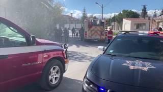 Voraz incendio en el Fraccionamiento Loma Blanca