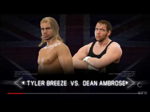 WWE 2K17 - Tyler Breeze vs Dean Ambrose | Gameplay (HD) [1080p60FPS]