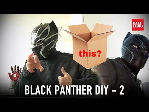 Make Black Panther Helmet Part 2 - Details // Civil War Cosplay How to