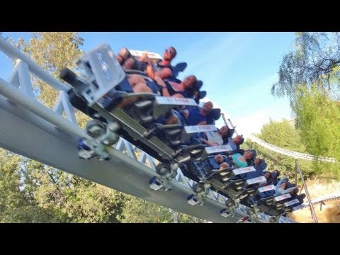 Offride - Off Ride Perspective of Full Throttle (Premier Rides: LSM) at Six Flags Magic Mountain in Valencia, California, USA shot on 6/22/2013/opening day. On Ride vi...