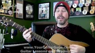 The Man Who Can't Be Moved - The Script - Lefty Beginner Acoustic Guitar Lesson