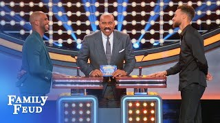 Video Steph Curry & Chris Paul face off! | Celebrity Family Feud MP3, 3GP, MP4, WEBM, AVI, FLV Juni 2018