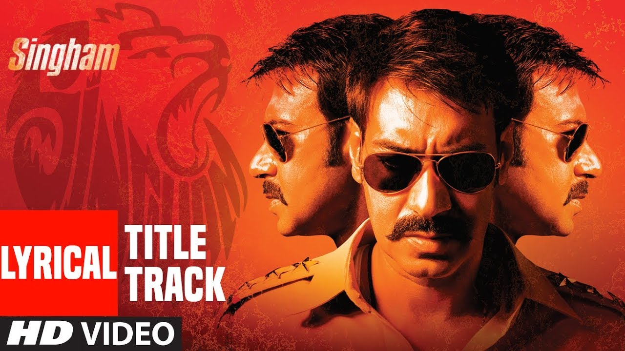 Lyrical Singham Title Song Feat Ajay Devgan Sukhwinder Singh
