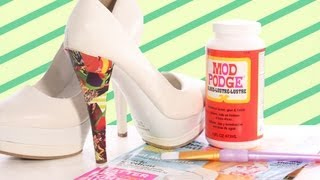 How to Mod Podge Your Shoes - YouTube