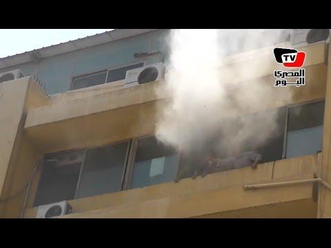 لقطات حريق «التموين» من داخل مبنى الوزارة