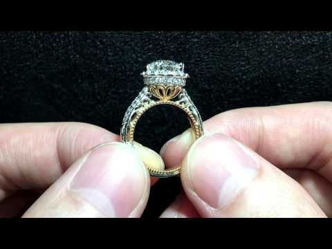 Verragio Venetian 5053R - TT Halo Engagement Ring