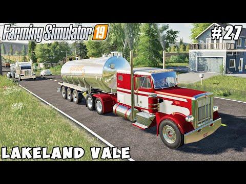 Buying new trucks, harvesting canola for diesel production   Lakeland Vale 2   FS 19   Timelapse #27