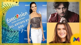 Video Eurovision 2018 - All Artists by Age | From 42 to 19 | #ESC2018 MP3, 3GP, MP4, WEBM, AVI, FLV Maret 2018